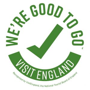 We're good to go. Visit England Covid-19 Safe